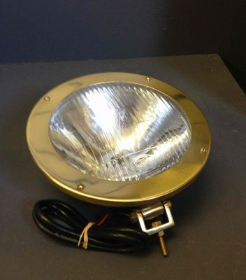 Brass round headlight