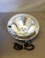 Chrome round headlight.