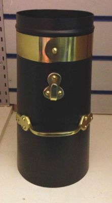 """12"""" Double skin chimney with brass"""