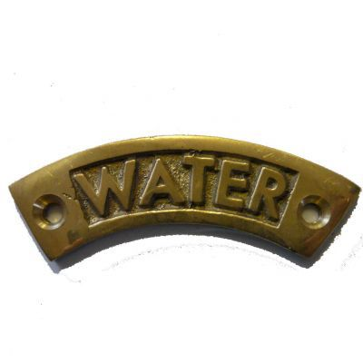brass water lable