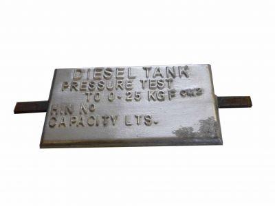 Tank pressure plate