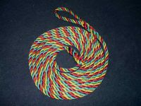 6m Red, yellow & green rope 14mm polyester
