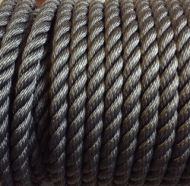 14mm Black Polyester Rope