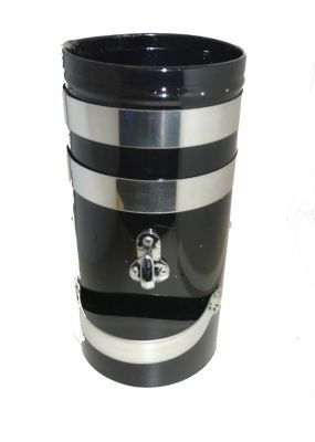 """12""""x 6"""" Double skin chimney with two Chrome bands"""