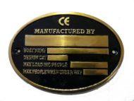 brass oval builders plaque