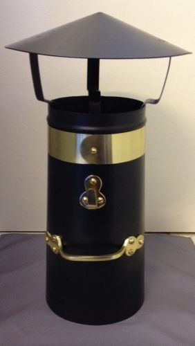 """18"""" Double skin brass chimney with coolie hat"""