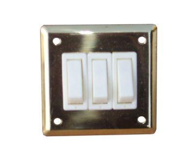 Treble Brass light switch