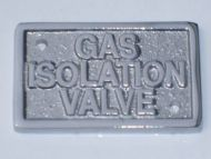 Chrome gas label