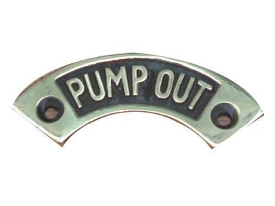 Brass Pump out label