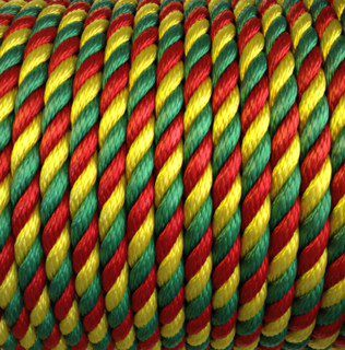 14mm Red, Yellow & Green Rope