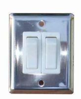 Stainless steel double light switch