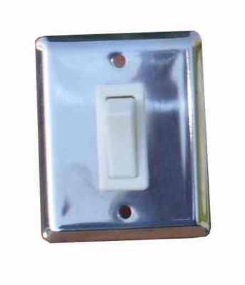 Stainless steel single light switch