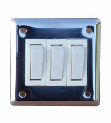 Stainless steel treble light switch