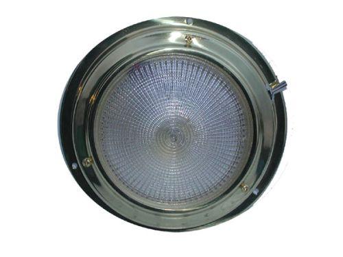 Small brass dome light