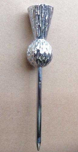 Chrome Thistle Tiller pin