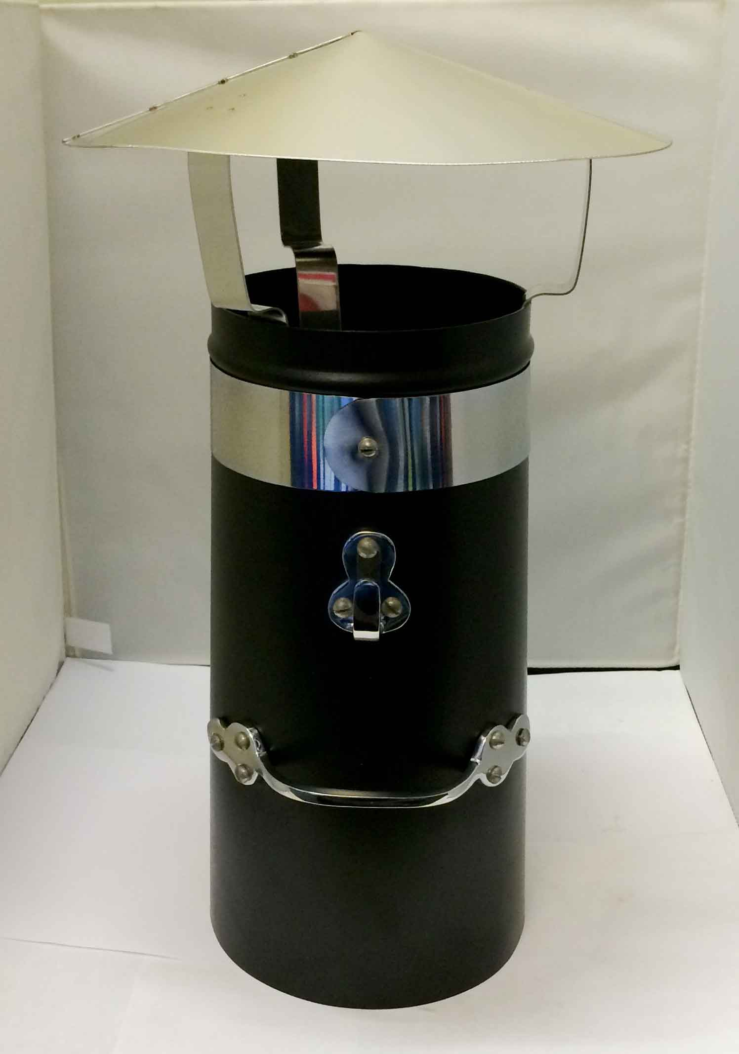 12 Quot Double Skin Chimney With Chrome Band And Stainless