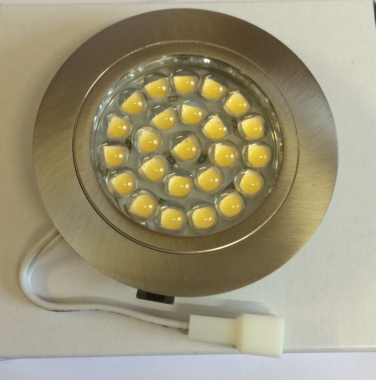 2 Watt 12 Volt Led Round Cabinet Light Fitting Kits Cool: 12v LED Round Recessed Spotlight